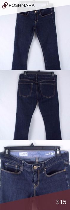 """GAP SEXY BOOT JEANS Gap Sexy Boot Jeans. Five pocket, zipper button front closure.   99% cotton 1% elastane  Size 26/2  Measures 32"""" waist 8 1/4"""" front rise 8 1/2"""" across leg cuffs, inseam 31""""  Very nice condition. GAP Jeans Boot Cut"""