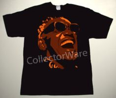 RAY CHARLES drawing 3 CUSTOM ART UNIQUE T-SHIRT   Each T-shirt is individually hand-painted, a true and unique work of art indeed!  To order this, or design your own custom T-shirt, please contact us at info@collectorware.com, or visit http://www.collectorware.com/tees-ray_charles.htm