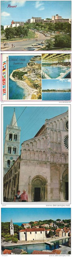 In the early 70's Ozeha engaged with very unusual business for an advertising agency, but very logical from the perspective of the then socialist economic system  - publishing of tourist postcards. Such promotion gave big elan to growing tourism economy in Croatia and neighboring  destination - Slovenia and Montenegro.  On the pictures few postcards for famous Croatian touristic places - Poreč, Šibenik, Zadar and island Veli Lošinj, beginning of the 1970s