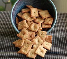 Homemade Cheez-Its...gonna try these for PA Camping.  I think last time we went through approx. 5 boxes in 3ish days, right @Niki Burke?