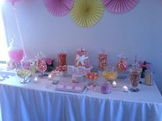 Baby shower candy table idea.