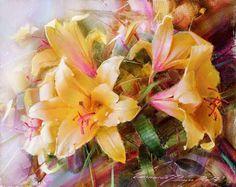 Yellow Lilies Print by Ramil Gappasov