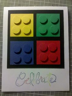 adorable for a boy birthday.  1 1/2 in squares, 1/2 in circles?