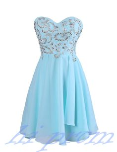 Blue Homecoming Dress,Chiffon Homecoming Dresses,Simple Homecoming Gowns,Strapless Party Dress,Short Prom Dress,Sweet 16 Dress,Cute Homecoming Dresses For Teens