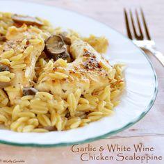 Garlic and White Wine Chicken Scaloppine - Quick and Easy