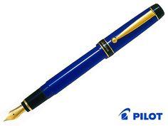 Pilot FPR-3SR Prera Medium Nib Fountain Pen Royal Blue plus 6 Black Cartridges