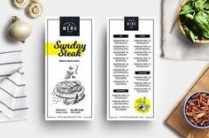 DL Menu / Wine List Template by BrandPacks on @creativemarket