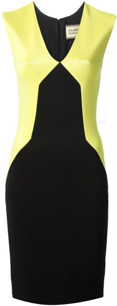 Fausto Puglisi Yellow Colour Block Dress | The House of Beccaria~