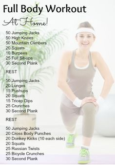 Best at home workouts for the full body!