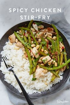 Spicy Chicken Stir-Fry A healthier take on kung pao chicken.