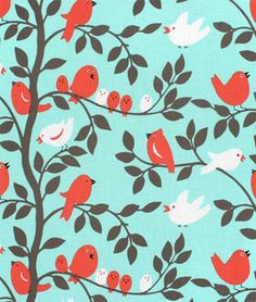 Love this! Michael Miller Tweetie Pie Aqua Fabric - $8.9 | onlinefabricstore.net