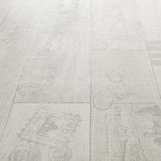 Rhino Style Printed White Wood Effect Vinyl Flooring