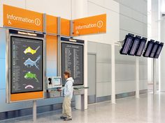 Pentagram //  Toronto Pearson Airport (System of wayfinding and information signage for the new Terminal 1)