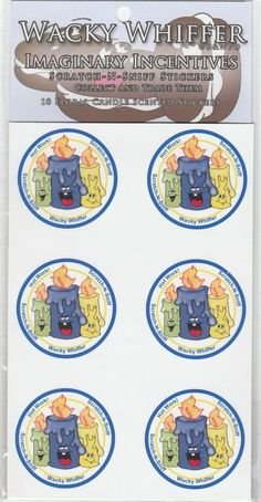 Wacky Whiffer Scratch and Sniff Stickers Floral Candle Scented ITM#SII027E3 #WackyWhiffer #ScratchSniff