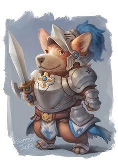 Corgi The Knight by orangedk on @DeviantArt