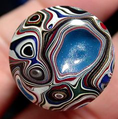 Solid Detroit Agate / Fordite Cabochon suzybones by suzybones