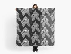 """""""Hockey Goalie Typography"""" Scarves by gamefacegear 