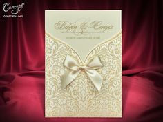 50 Damask Personalised Laser Cut Wedding Day Evening Invitations Free P&P Elegant Invitations, Wedding Invitation Cards, Wedding Cards, Wedding Day, Envelope Box, Laser Cutting, Damask, Marriage, Gift Wrapping
