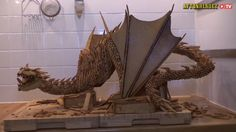 Over the course of two weeks, Swedish 3D artist Caroline Eriksson, based out of Oslo, Norway, constructed an impressive sculpture of Smaug--the fearsome, treasure-hoarding dragon from The Hobbit--o...