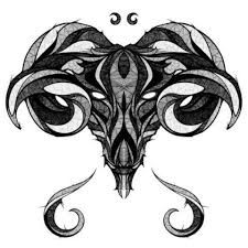 Image result for geometric tattoo ram aries