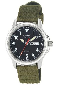 CITIZEN ECO-DRIVE MEN'S SPORT CANVAS STRAP WATCH