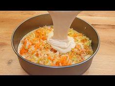Κέικ λαχανικών σε 10 λεπτά και χρόνος ψησίματος, νόστιμη συνταγή για δείπνο # 147 - YouTube Vegetable Cake, Cake Factory, Le Diner, Strudel, Antipasto, Macaroni And Cheese, Zucchini, Sweet Treats, Dinner Recipes