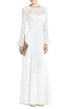 BCBG wedding dress Max Azria Bridal Salina with sleeves   OneWed.com