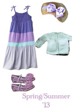 Precious outfit combo for a girl toddler! Looks like a doll outfit! #purple #blue #pink #bow #boe #dress #maxi #sparkly#shoes #cute #stylish #fashionable #trendy