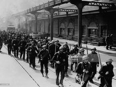 French troops from Dunkirk arrive safely in Britain in June 1940. Advancing German troops forced the emergency evacuation of the allied forces.