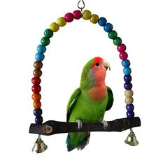 Pet Birds Parrot Toys Cockatoo Parakeet Bird Swing Budgie Cotton Climbing Rope Knots With Christmas Bells Hanging Chew Decor Elegant In Smell Pet Products