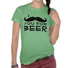 I Mustache you for Beer funny women's or men's St. Patrick's Day T-Shirt