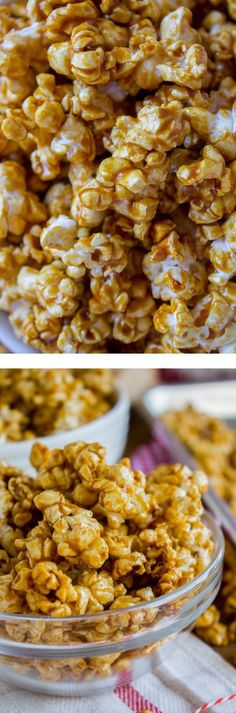 10 Minute Caramel Popcorn in the Microwave (FOR REAL, 10 minutes!) from The Food Charlatan. This super easy recipe for Caramel Popcorn takes 10 MINUTES start to finish! You make it in a brown paper bag in the microwave. It is SO crunchy and flavorful! Popcorn Recipes, Caramel Recipes, Baking Recipes, Snack Recipes, Dessert Recipes, Desserts, Crockpot Recipes, Easy Recipes, Healthy Recipes