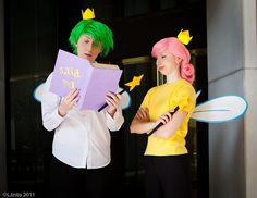 Fairly Oddparents Couple Costume. Props for having the Da Rules rule book from the series