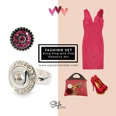 FASHION SET - Bling Ring with Pink Radiance dot~ https://shanette.styledotshome.com/
