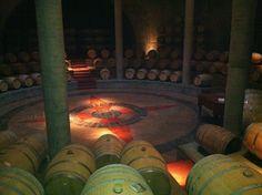 Salentein winery barrel hall