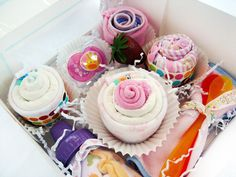 Baby shower gift - Assorted baby items - All the ESSENTIALS. $34.95, via Etsy.