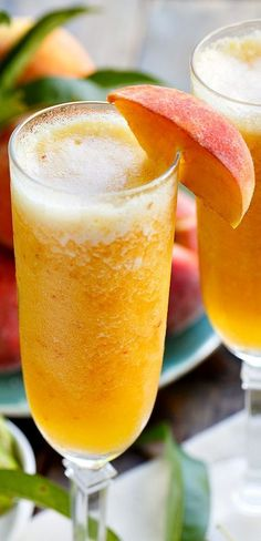 Make a refreshing drink the whole family can enjoy with fresh summer peaches. Frozen Peach Bellini Mocktails are super easy to make.