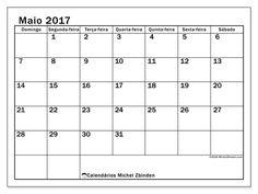 maio 2017para imprimir, livre. Calendário mensal : Tiberius (D). A semana começa no domingo