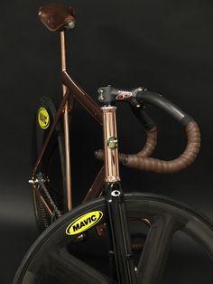 Ed's Bikes, custom copper frame.