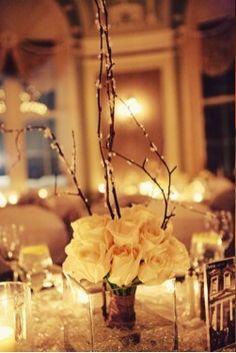 rose branch table arrangement