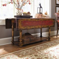 shop for hooker furniture vicenza drop leaf console table and other living room tables furniture what to do when additional dining guests drop in at the