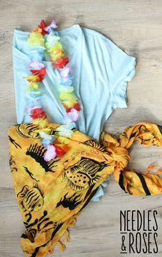 Easy costume luau hawaiji hula DIY