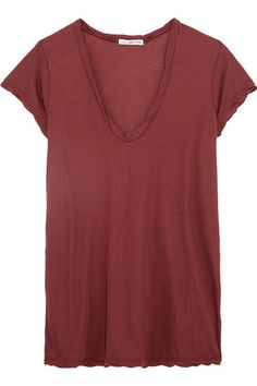 James Perse - Cotton-jersey T-shirt - Red