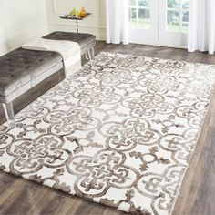 Safavieh Handmade Dip Dye Watercolor Vintage Ivory/ Brown Wool Rug x Beige Off-White, Size x Watercolor Rug, Contemporary Rugs, Accent Rugs, Online Home Decor Stores, Online Shopping, Outdoor Rugs, Design Crafts, Colorful Rugs, Wool Rug
