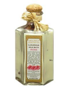 Mleko do kąpieli - Różane z płatkami róż w Subtle Beauty na DaWanda.com