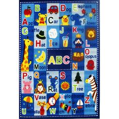 Letters and Names Fun Kids Rug