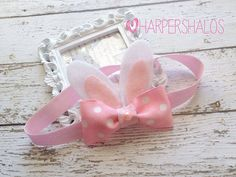Bunny Ears Bunny Headband Easter Bunny Ears and by xHarpersHalosx