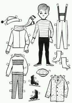 Бумажные куклы – 116 фотографий