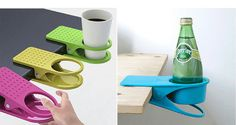 Creative fashion table glass clamp saucer kitchen table gadgets ...