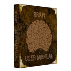 Shop Brain - User Manual 3 Ring Binder created by AlexCiopata. 3 Ring Binders, Binder Inserts, Binder Design, Custom Binders, Photo Quality, Unique Weddings, Manual, Lettering, Create